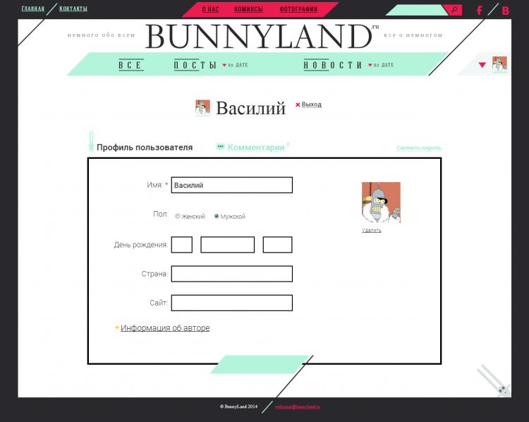 Bunnyland.ru — новостное коммьюнити
